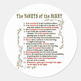 Los principios de la noche pegatinas