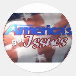 Los problemas conseguidos de América Pegatina Redonda