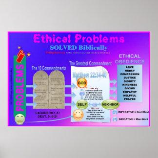 Los problemas éticos solucionaron la carta de la s impresiones