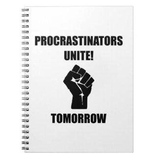 Los Procrastinators unen Libro De Apuntes Con Espiral