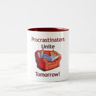 Los Procrastinators unen Taza De Dos Tonos