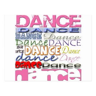 Los productos del bailarín de la danza tarjetas postales