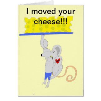 Los productos del motor del queso tarjeta de felicitación