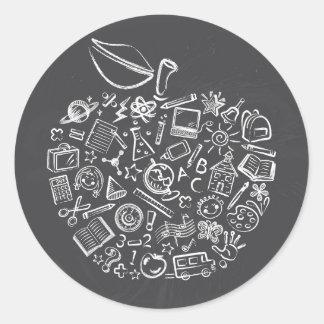 Los profesores Apple Doodle al pegatina