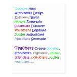 Los profesores crean postal