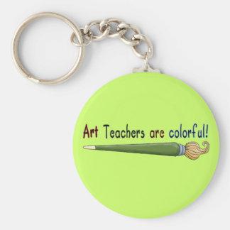 Los profesores de arte son camisetas y regalos col llavero redondo tipo pin