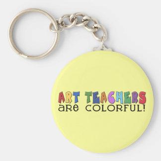 Los profesores de arte son coloridos llavero redondo tipo pin