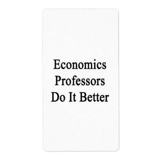 Los profesores de economía mejora etiqueta de envío