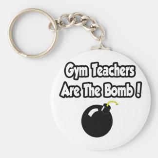 ¡Los profesores de gimnasio son la bomba! Llaveros