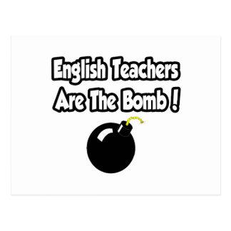 ¡Los profesores de inglés son la bomba! Postal
