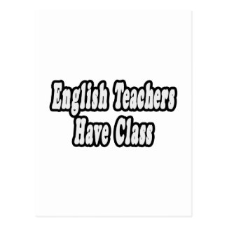 Los profesores de inglés tienen clase postal