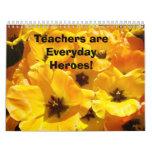 ¡Los profesores de los regalos del calendario son