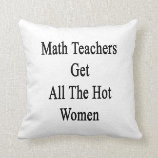 Los profesores de matemáticas consiguen a todas la cojines