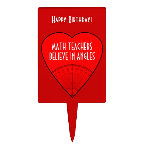 Los profesores de matemáticas creen en ángulos figuras de tarta