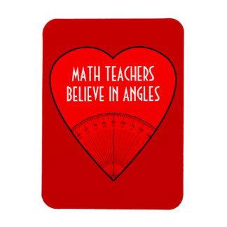Los profesores de matemáticas creen en ángulos rectangle magnet
