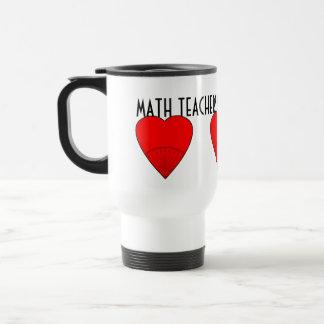Los profesores de matemáticas creen en ángulos taza de viaje