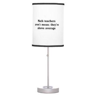 Los profesores de matemáticas están sobre media