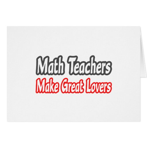 Los profesores de matemáticas hacen a grandes aman tarjeta de felicitación