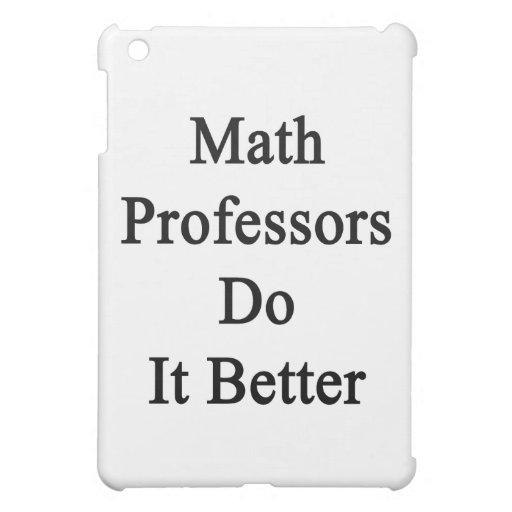 Los profesores de matemáticas mejora