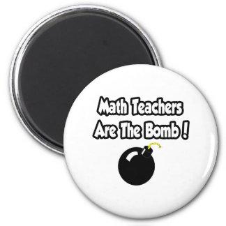 ¡Los profesores de matemáticas son la bomba! Imán Redondo 5 Cm
