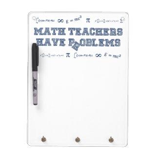 Los profesores de matemáticas tienen problemas pizarras blancas de calidad