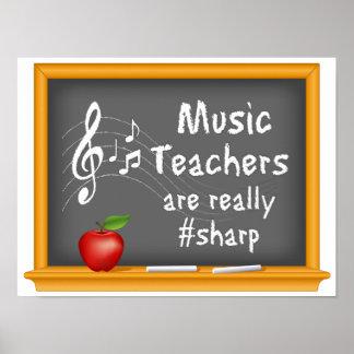 Los profesores de música están realmente # póster