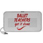 Los profesores del ballet lo consiguen hecho notebook altavoces
