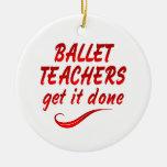 Los profesores del ballet lo consiguen hecho ornaments para arbol de navidad