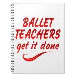 Los profesores del ballet lo consiguen hecho libro de apuntes con espiral
