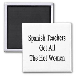 Los profesores españoles consiguen a todas las muj imán de frigorifico