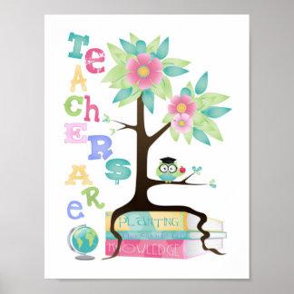 Los profesores están plantando las semillas del póster