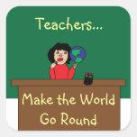 Los profesores hacen que el mundo va alrededor del