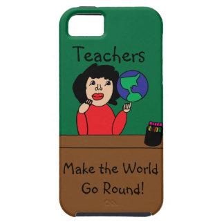 Los profesores hacen que el mundo va alrededor iPhone 5 fundas