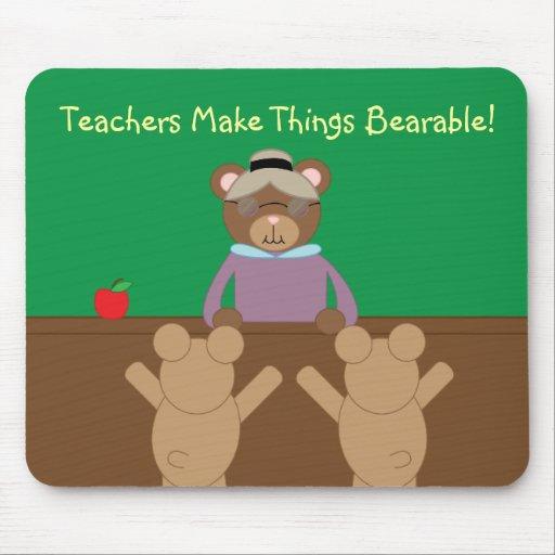 Los profesores hacen vida el cojín de ratón soport tapete de raton