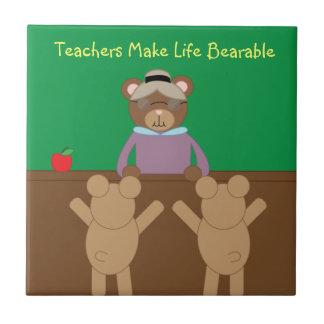 Los profesores hacen vida la teja soportable