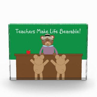 Los profesores hacen vida soportable