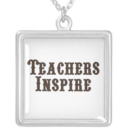 Los profesores inspiran colgante
