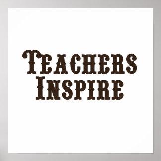 Los profesores inspiran impresiones