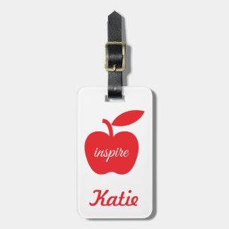 Los profesores inspiran la etiqueta del equipaje etiquetas maleta