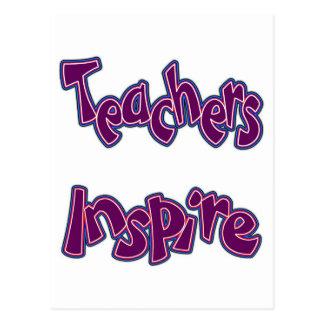 Los profesores inspiran tarjeta postal