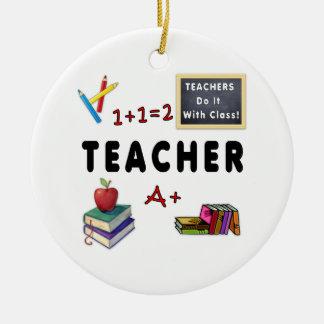 Los profesores lo hacen con la clase ornatos