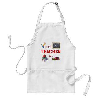 Los profesores lo hacen con la clase delantal