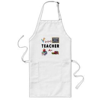 Los profesores lo hacen con la clase delantal largo