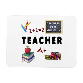 Los profesores lo hacen con la clase imán rectangular