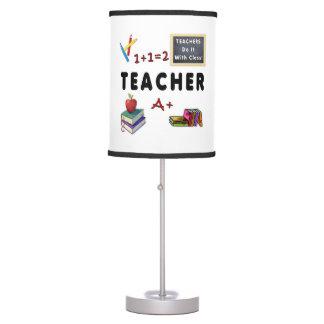 Los profesores lo hacen con la clase lámpara de mesilla de noche