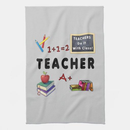 Los profesores lo hacen con la clase toalla de mano