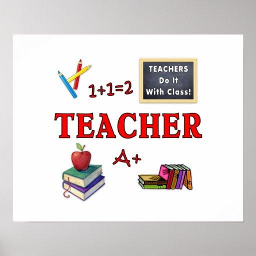 Los profesores lo hacen con la clase posters