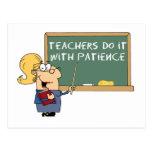los profesores lo hacen con paciencia postal
