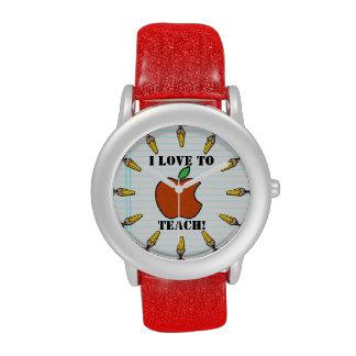 Los profesores miran (personalizado) relojes