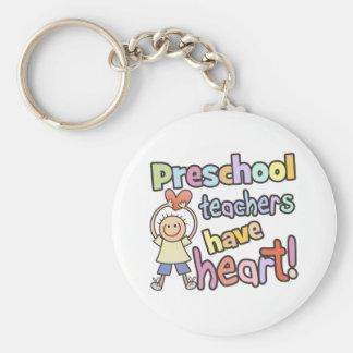 Los profesores preescolares tienen corazón llaveros